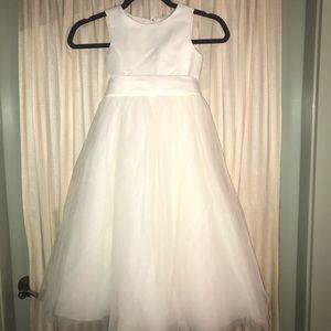 Cream Flower Girl Dress
